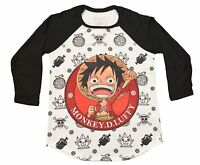 License One Piece Sd Luffy & Logos 3/4 Sleeve Sublimation Thin Shirt 90165