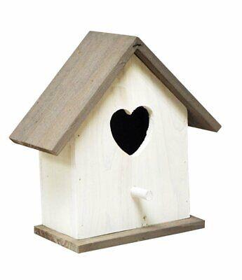 Diligente In Legno Cuoricino Casa Degli Uccelli Casella Di Nidificazione Per Piccoli