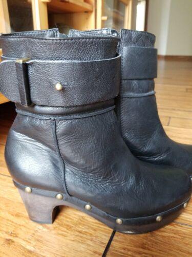 Shoes women black leather size 37  ( 6.5 ) Buffalo