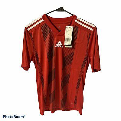 adidas Men's Striped 19 Soccer Jersey, Power Red/White, Large | eBay
