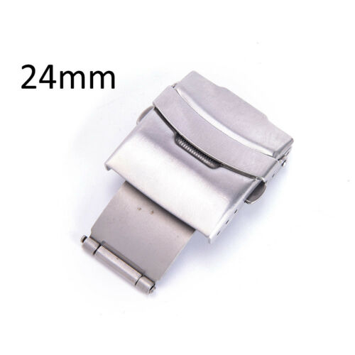 16//18//20//24mm StainlessSteel papillon déployante boucle fermoir WatchStrapBandTR