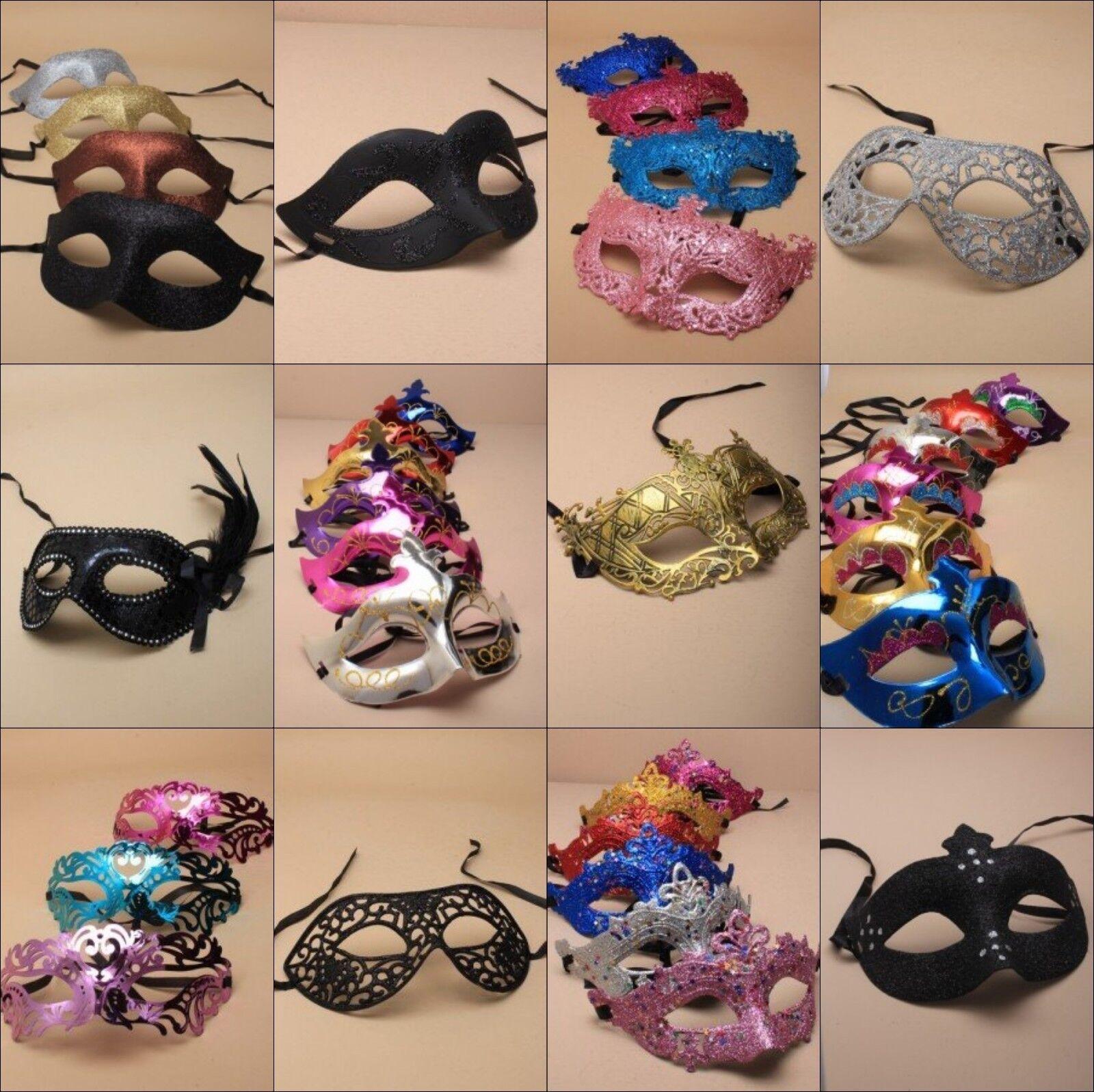 Masquerade Masquerade Masquerade Masques nouvel an Bal Party Costume Robe fantaisie gros vrac Gillter, 60c1ba
