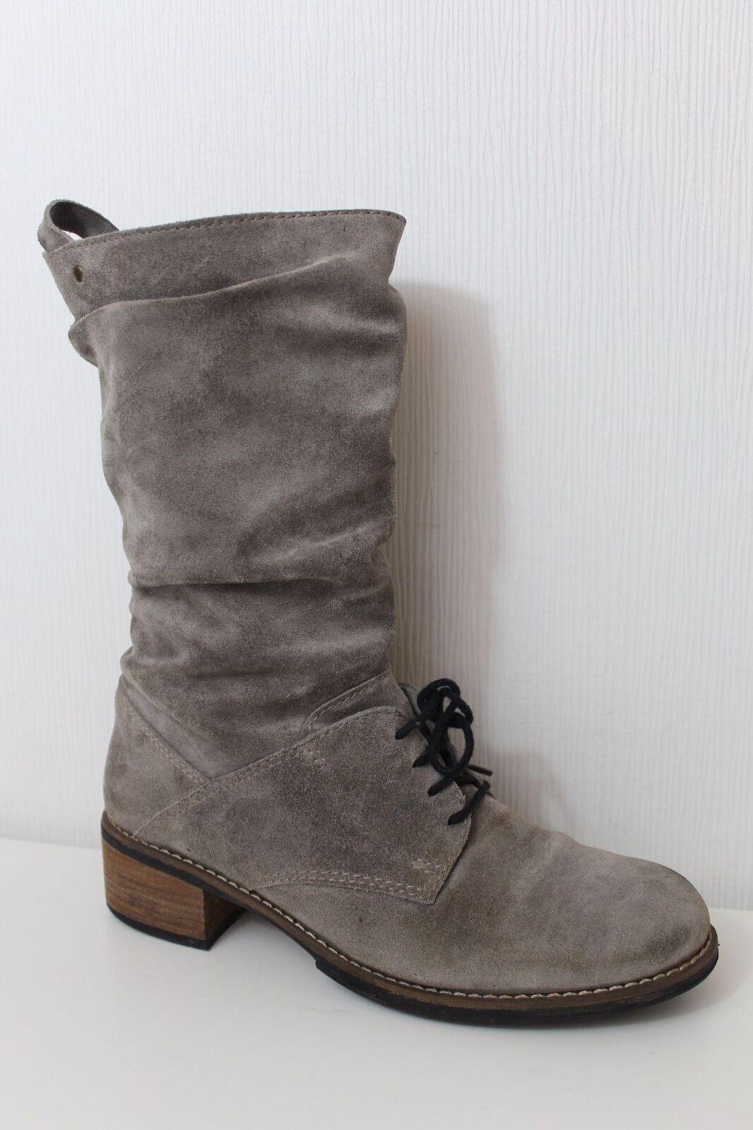 Wolky señora botas Lace Lace botas up Boots 41 ata zapatos de gamuza Lagenlook ed28b8