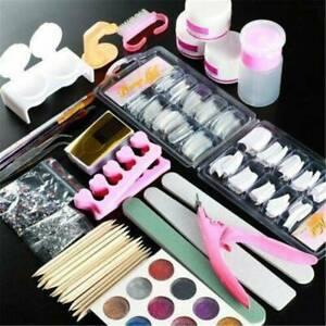 Acrylic-Nail-Kit-Acrylic-Powder-Glitter-Nail-Art-Manicure-Tips-Brush-Tool-Set-UK