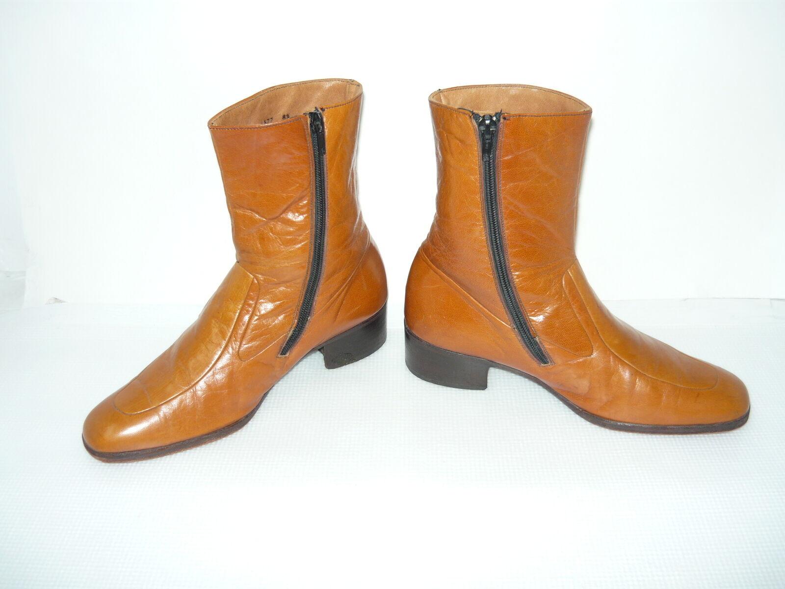 Vintage Ambassador Braun  Leder Damenschuhe Stiefel Niedrig Heel  Braun Sz 8.5 908a54