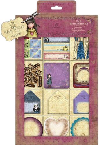 Docrafts Santoro Gorjuss Embellishment kit 81 pieces Mini Envelopes Pegs Frames