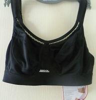 Woman's 28f Black Shock Absorber Classic Sports Bra Rrp £28