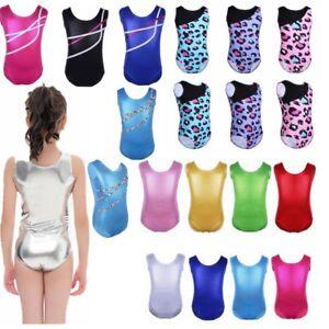 Tutu-Ballet-Dance-Dress-Girl-Metallic-Gymnastic-Leotard-Bodysuit-Fitness-Unitard