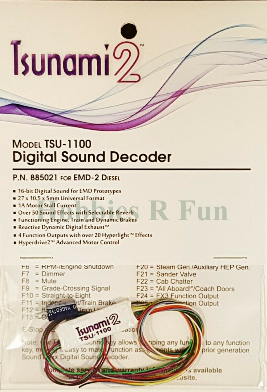 Soundtraxx TSU-1100 Tsunami2 EMD-2 Diesel Sound decoder, 1 amp universal style