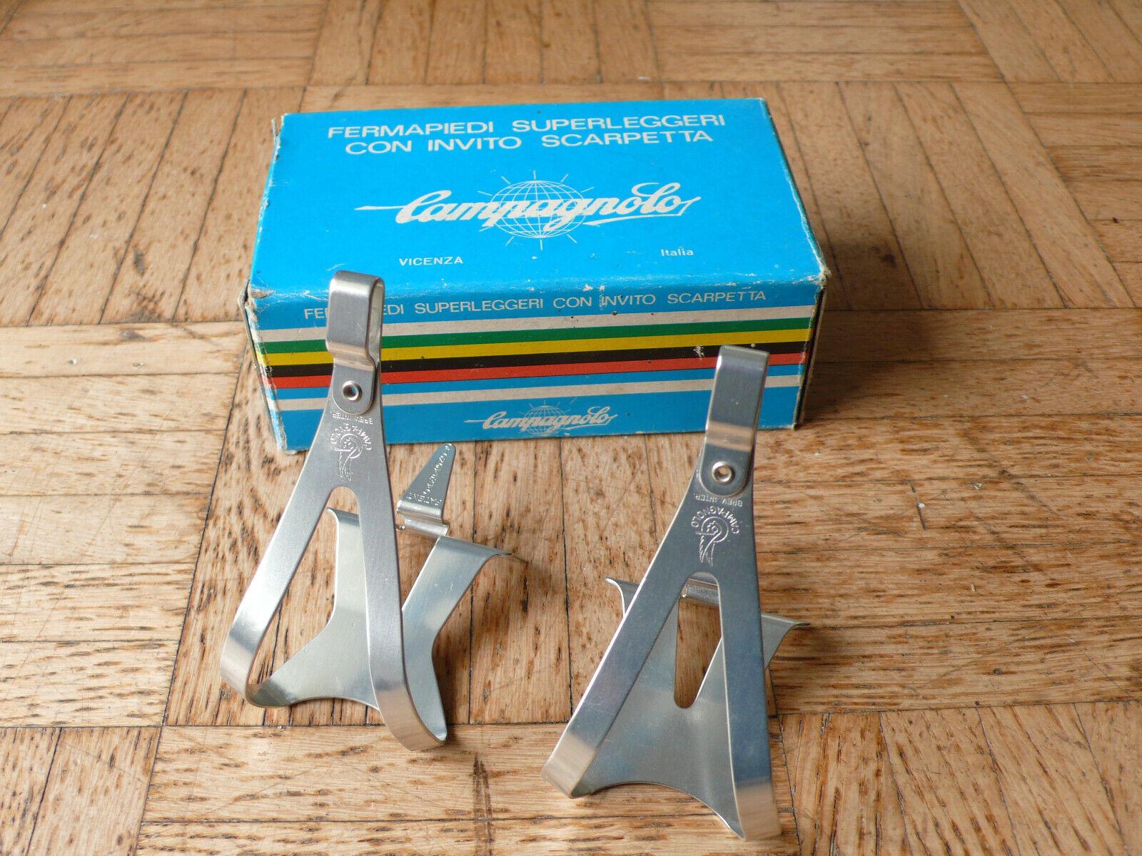 Nos NIB Campagnolo súper record SZ s súperleggeri Toe clips pedal gancho