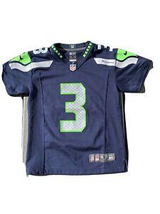 Details about Nike On Field Boy's Sz S Seattle Seahawks #3 Russell Wilson Jersey ~Blue~