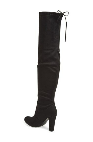 Gorgeous Steve Madden Knee High Suede Black Boots 8.5 39.5