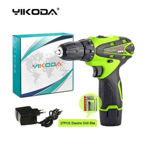 YIKODA 12V Cordless Drill Home Decoration DIY Electric Screwdriver
