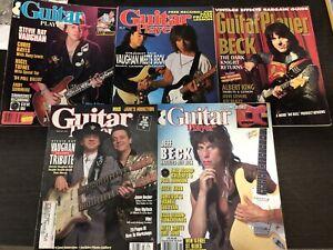 Vintage Guitar Player Magazines - SRV & Jeff Beck Bundle- MASSIVE COLLECTION