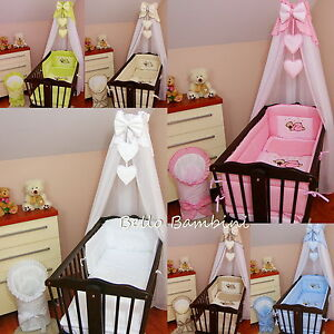 Image is loading CANOPY-drape-to-fit-baby-swinging-crib-wicker- & CANOPY drape-to fit baby swinging crib/wicker basket/craddle + ...