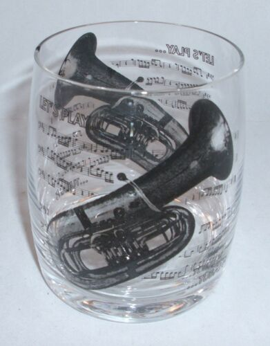 Whiskyglas Trinkglas Glas Musik Tuba