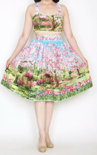 Bernie Dexter Trixie Skirt in Cherry Blossom Pinup