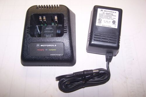 NEW MOTOROLA INTELLICHARGE 2 AAHTN9001B CHARGER AND POWER SUPPLY 120V 2580600E01