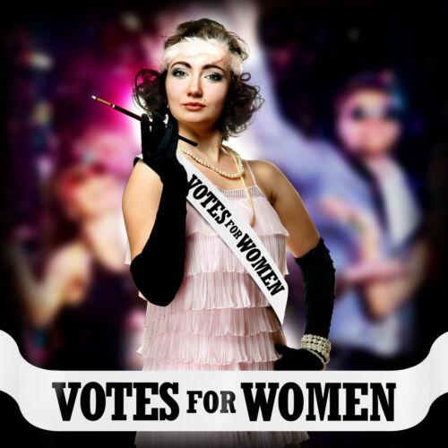 VOTES FOR WOMEN SASH EMMELINE PANKHURST FANCY DRESS COSTUME SUFFRAGETTE