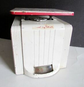 Antique-Deco-Design-1930s-40s-Metal-Kitchen-Scale-MAID-OF-HONOR-6-5-034-FREE-SH