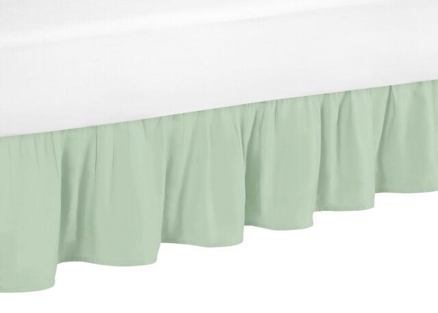 Sweet Jojo Designs Mint Queen Bed Skirt For Girls Ava Children S And