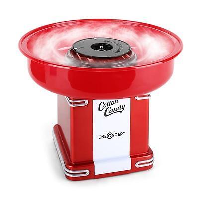ONECONCEPT CANDYLAND 2 RETRO COTTON CANDY FLOSS MACHINE 500W KID FUN KITCHEN RED