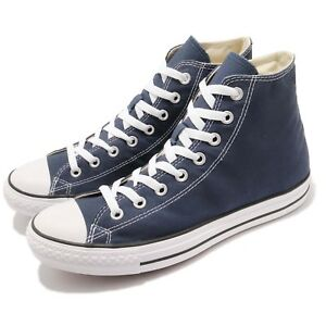 51fc482dd938b6 Converse Chuck Taylor All Star Hi Navy Canvas White Men Classic ...