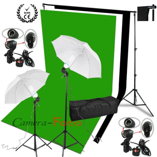 Photo Studio éclairage continu Kit 3 coton mousseline support de fond Tissu FR