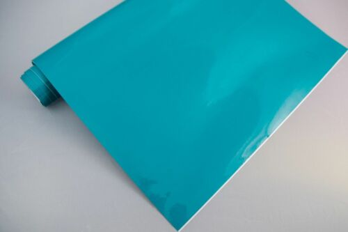 3,2€//m² Plotterfolie glänzend 11 türkis 175 x 106 cm Möbel-Folie selbstklebend