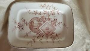 Circa-1880-Old-Hall-Brown-Aesthetic-Movement-Baltimore-Transferware-Platter