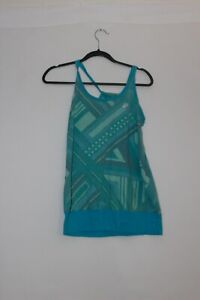 Womens-NIKE-tennis-tank-blue-green-size-medium