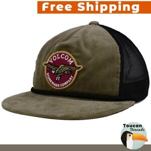55515b4f4ac45 Volcom Stone Men Carrier Cheese Hat Trucker Snapback Cap NWT Skate ...