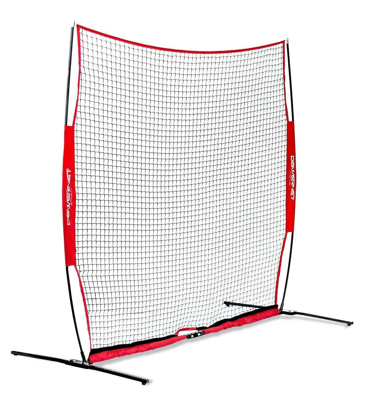 PowerNet Portable Barrier Net 8' x 8' for for 8' Baseball Lacrosse 64 sqft Protection b9d2f7