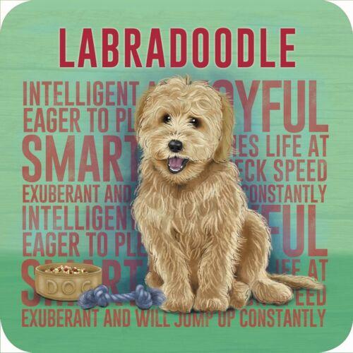 Dog Golden Labradoodle Melamine Coaster