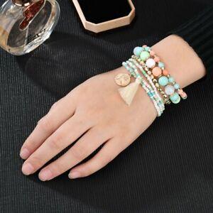Bohemian-Bracelets-Women-Sweet-Tassel-Multilayer-Beads-Bangle-6Pcs-Set-Jewelry