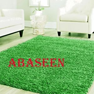 Image Is Loading New Luxurious Thick Pile Shaggy Soft Light Green