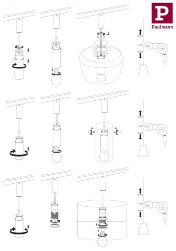 20W E27 Schwarz matt Chrom 230V Paulmann URail 2Easy Basic Pendelleuchte max