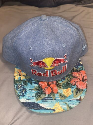 Red Bull Athlete Hat - SnapBack- Blue Floral