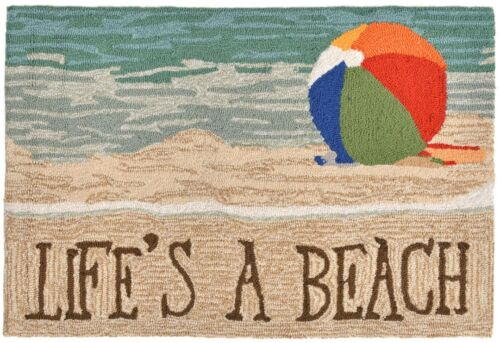Liora Manne Frontporch Life/'s a Beach Rugs Indoor//Outdoor 3 Sizes