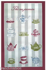 BEAUVILLE-Dish-Kitchen-Towel-Gift-New-FRENCH-JASMINE-TEA-Pot-Cups-FREE-GIFT