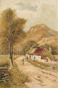 T-Lewis-1899-Oil-Highland-Cottages