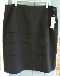 Nwt 16w Pencil Tessuto Sandro Black altezza media Stretch Woman Straight Gonna a FPA5x1qw