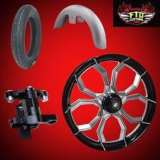 "Harley 26 inch Front End Big Wheel kit w/Wheel, Tire, Neck, Fender, ""Widow"""
