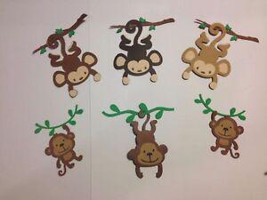 DIE-CUTS-Set-6-Monkeys-3-034-H-amp-2-034-H-SCRAPBOOKING-CARD-amp-PARTY-DECORATIONS