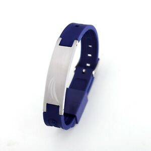 Energetix-4you-pro-Ion-Silicona-Fontaine-Azul-Pulsera-Magnetica-3600