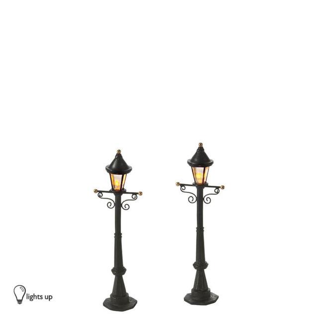 Dept 56 Uptown Street Lights Set of 2 Lights NEW 809331 D56 Christmas  Village - Dept 56 Uptown Street Lights Set Of 2 Lights 809331 D 56 Christmas