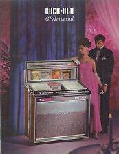 Depliant Pubblicitario Juke Box Rock-Ola GP/Imperial  - anni  '70 in inglese