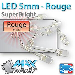 LED-Rouges-5mm-Transparentes-clear-rouge-Lots-multiples-prix-degressif