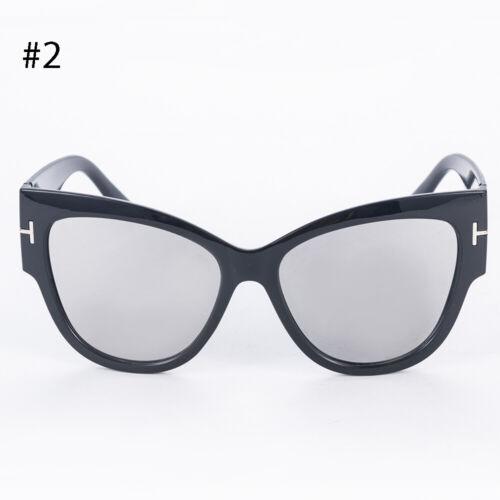 Stylish Cat Eye Women Sunglasses Gradient Point Oversized Retro Men Sun Glasses