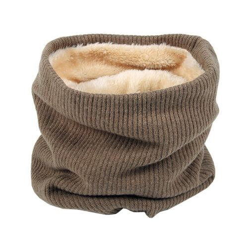 Kinder Damen Herren Schlauchschal Halstuch Halswärmer Fleece dicker Winter Schal